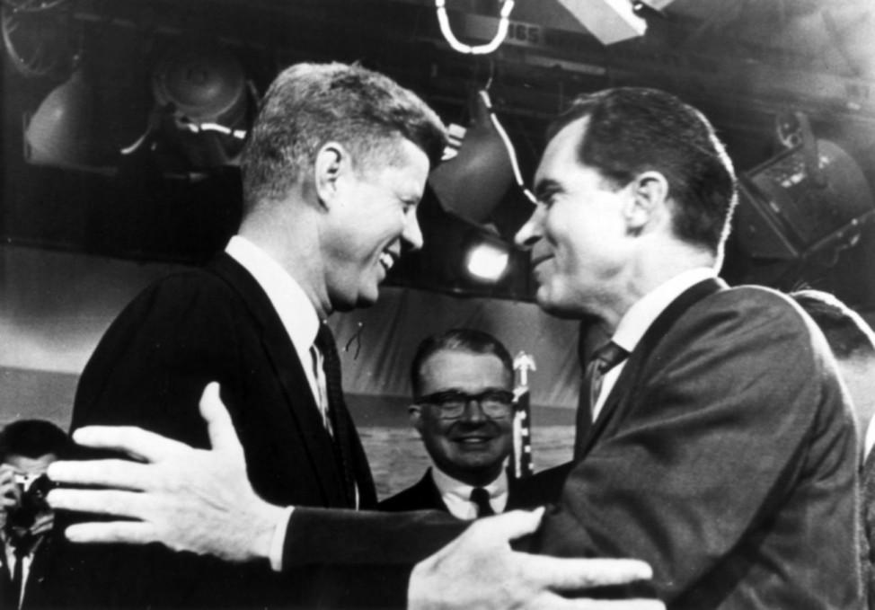 TV-Duell zwischen J. F.Kennedy und Nixon 1960