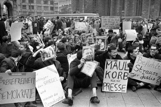 Proteste im Rahmen der Spiegel-Affäre