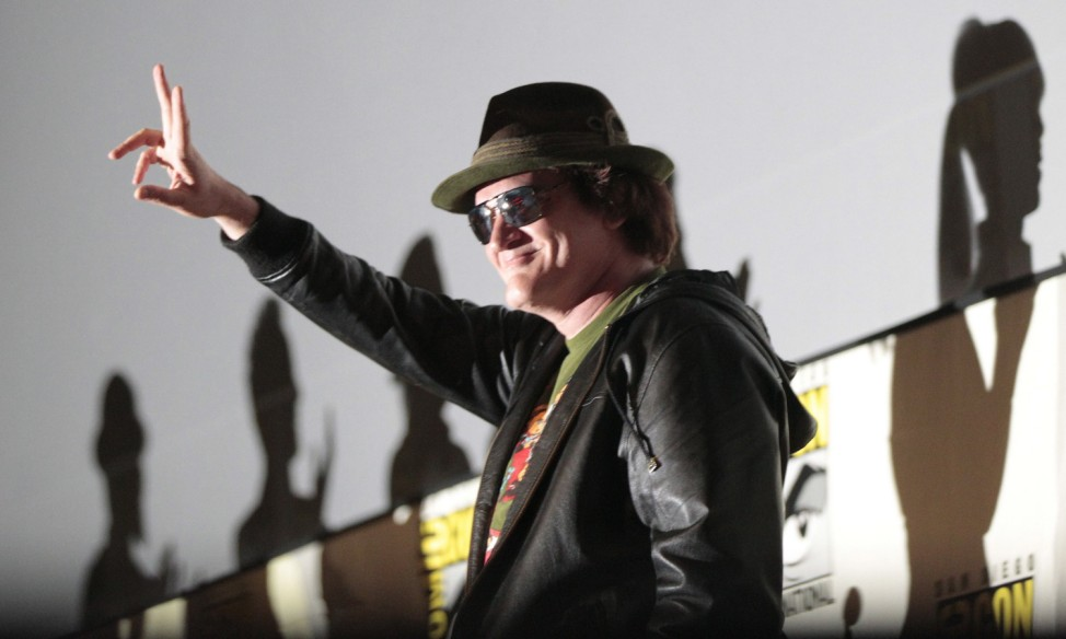 Tarantino arrives for a panel for 'Django Unchained' during Comic Con International convention in San Diego