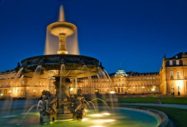 Stuttgart Schlossplatz Brunnen Städtetipps von SZ-Korrespondenten