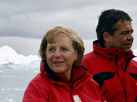 Angela Merkel, Sigmar Gabriel;AFP