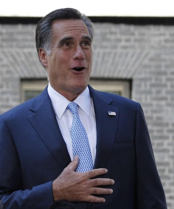 Mitt Romney in London, Olympia, USA
