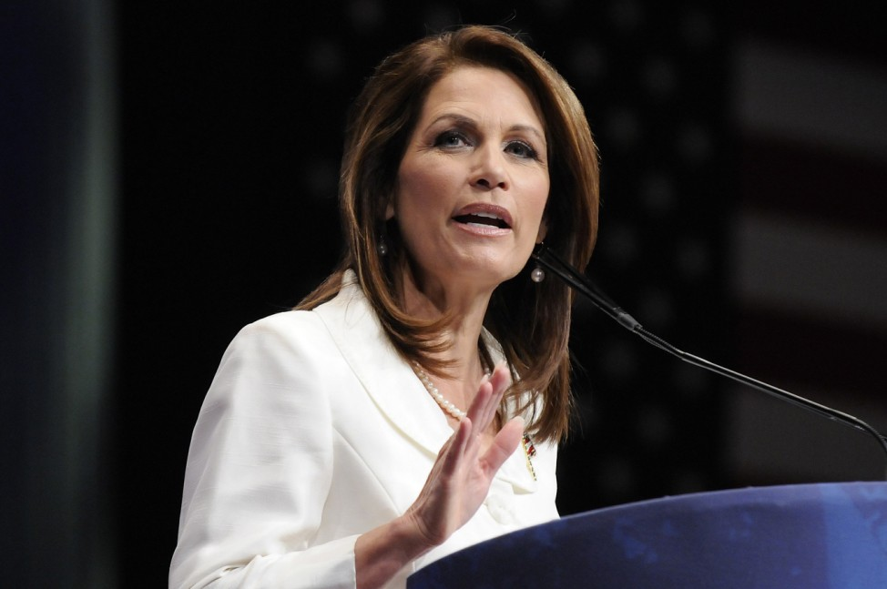 File photo of U.S. Representative Michele Bachmann addressing the annual Conservative Political Action Conference (CPAC) in Washington