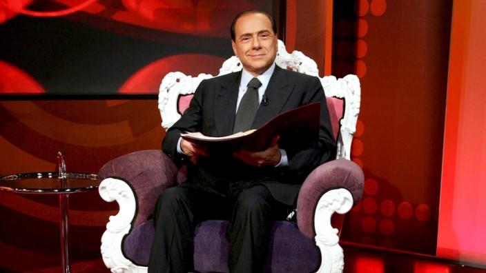 Silvio Berlusconi bei TV-Auftritt
