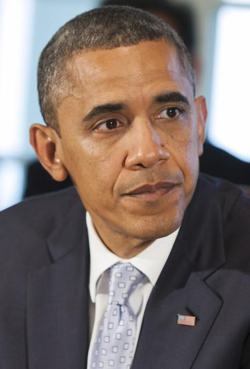 """Selbst Barack Obama bekam bei einem Bankett in London den ganzen Johnson zu spüren. """"Würden Sie mir bitte einen Scheck über fünf Millionen Dollar ausstellen?"""", fragte """"Bo-Jo"""" den verblüfften US-Präsid"""