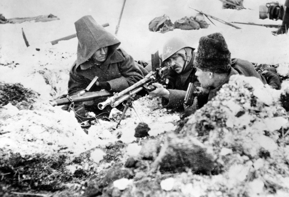 Zweiter Weltkrieg: Italienische und rumänische Truppen vor Stalingrad, 1942-1943,  | Second World War: Italian and Romanian Troops fighting in the Stalingrad area, 1942-1943 Scherl / SZ Photo