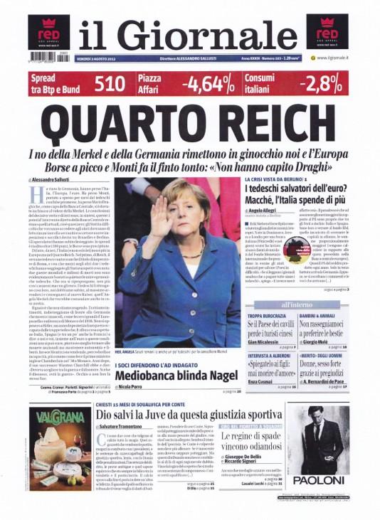 """Berlusconi-Blatt nach Draghis Äußerungen: ´Viertes Reich"""""""