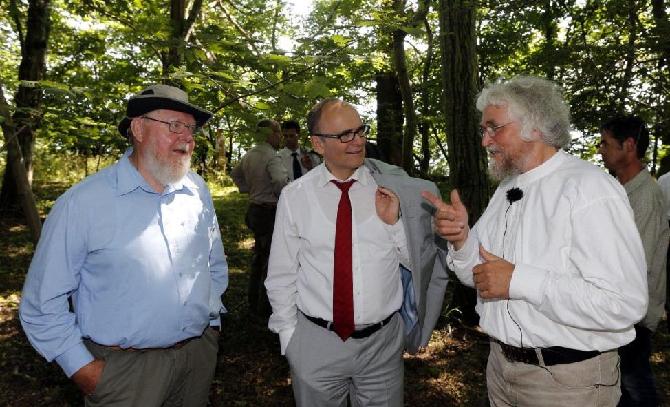 Mecklenburg-Vorpommerns Ministerpraesident Sellering besucht Insel Vilm