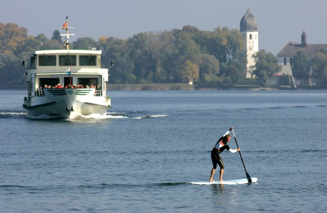 Strahlendes Wetter am Chiemsee