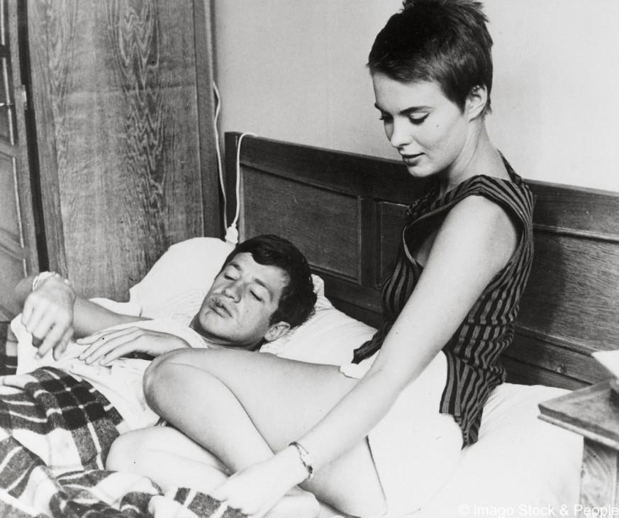 "Jean-Paul Belmondo und Jean Seberg in ""Außer Atem"""