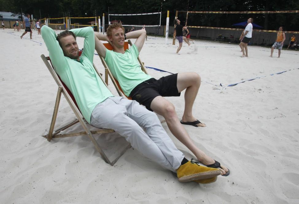 Ankunft der Beachvolleyball-Olympiasieger