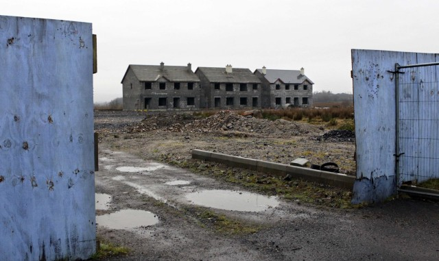 The Waterways, an empty and unsold housing development, is pictured in the village of Keshcarrigan