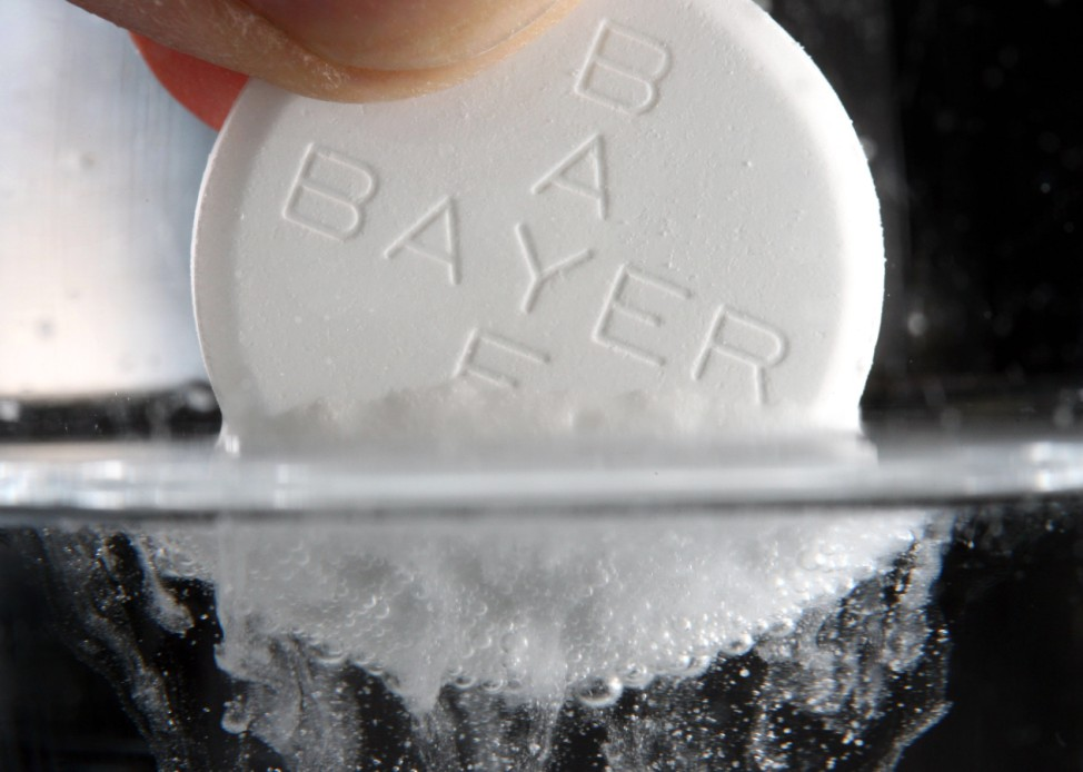 Aspirin-Tablette des Bayer-Konzerns
