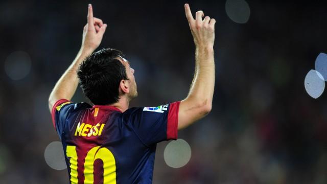 Supercup in Spanien: Barcelonas Lionel Messi feiert sein erstes Tor im Spiel gegen Real Madrid.