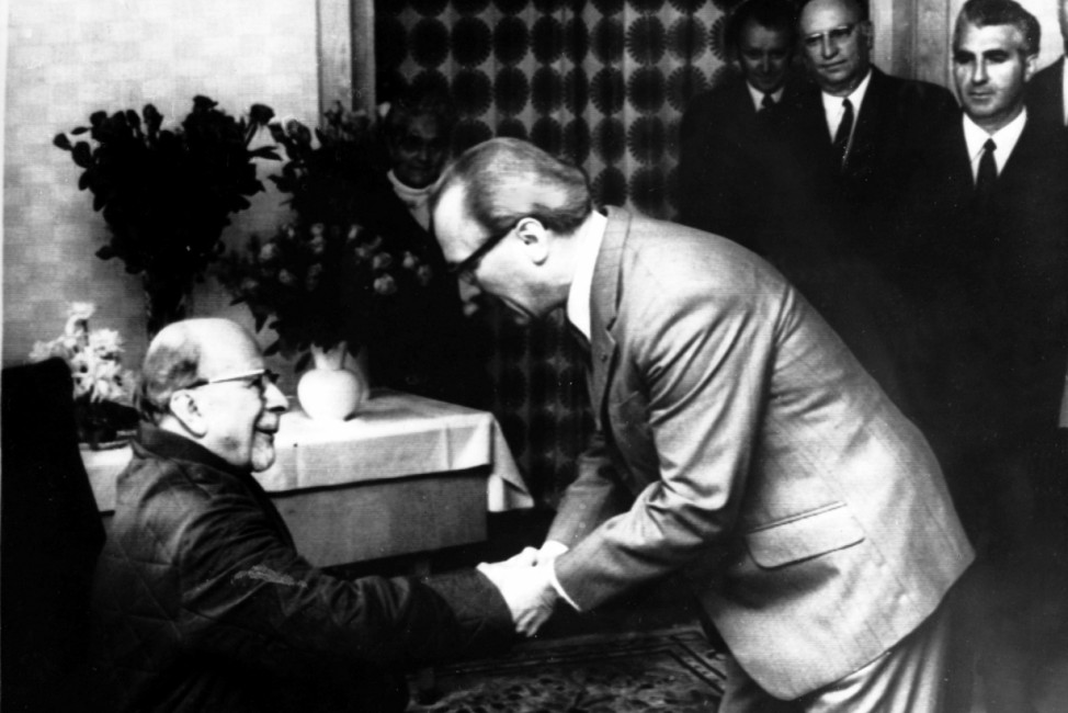 Walter Ulbricht und Erich Honecker 1971