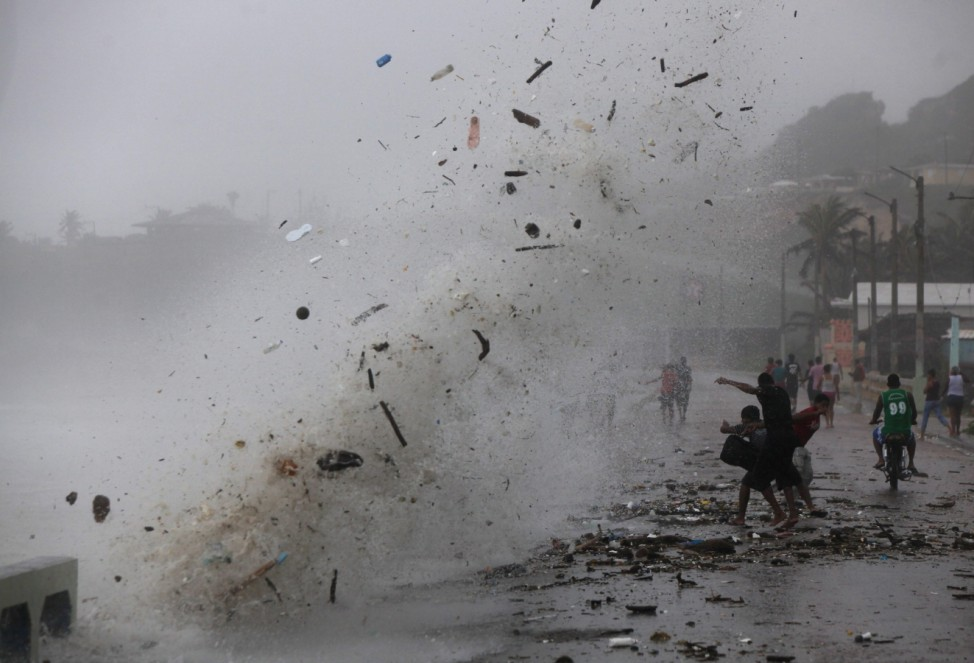 Tropical storm 'Isaac' in Enriquillo