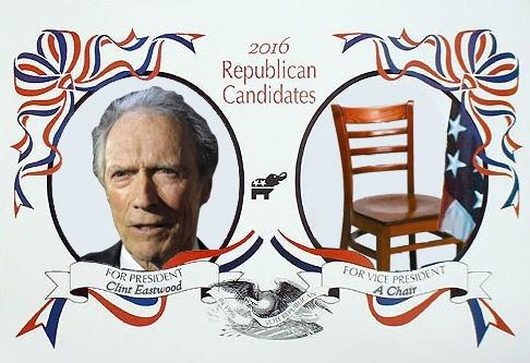 Clint Eastwood, leerer Stuhl