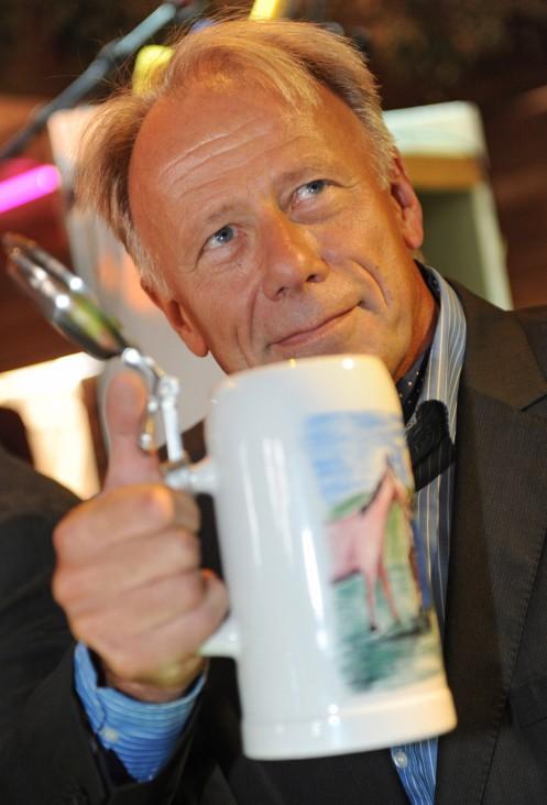 Jürgen Trittin auf Gillamoos-Volksfest