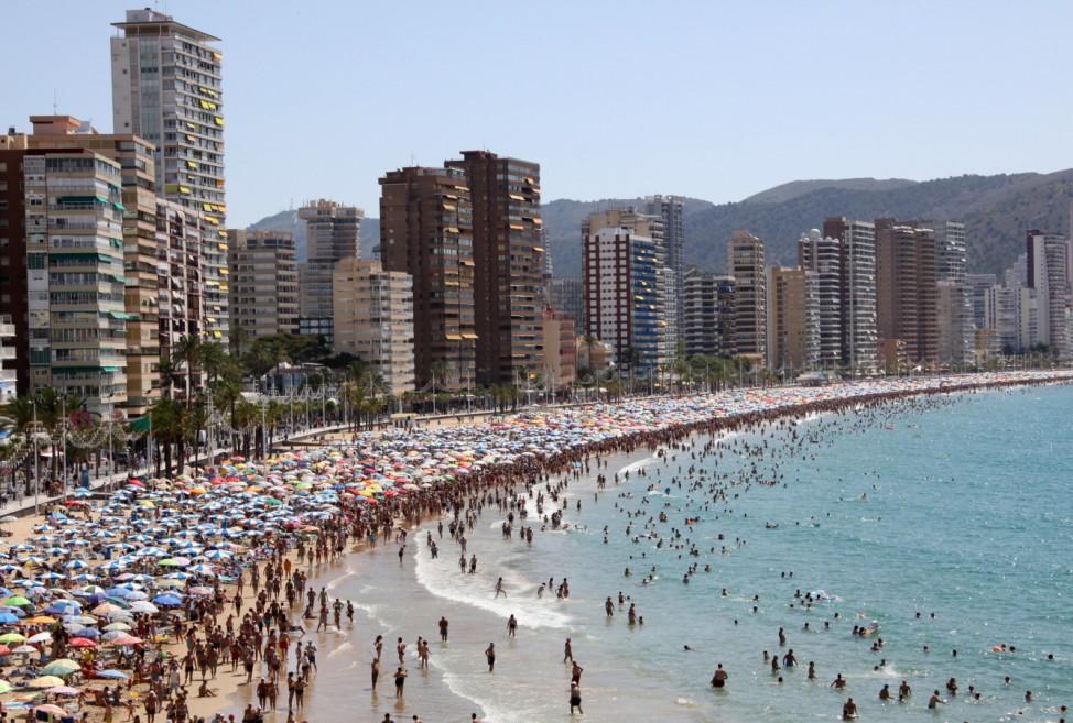 Benidorm Costa Blanca Alicante Strand Wolkenkratzer