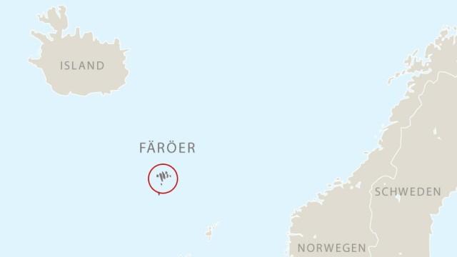 Färöer Inseln Karte