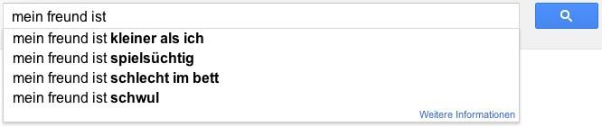 Google Autovervollständigung lustige Biga