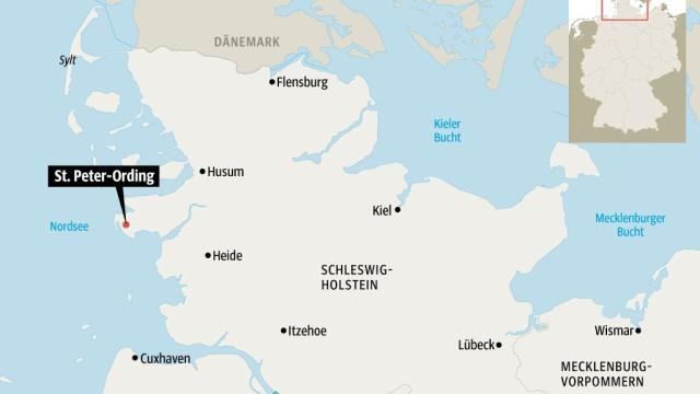 st peter ording karte deutschland St. Peter Ording an der Nordsee   Zugvögel in den Salzwiesen