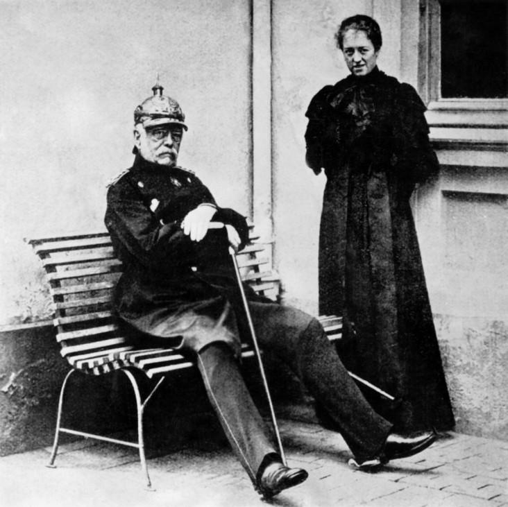 Otto von Bismarck und die Großherzogin Anastasia von Mecklenburg-Schwerin