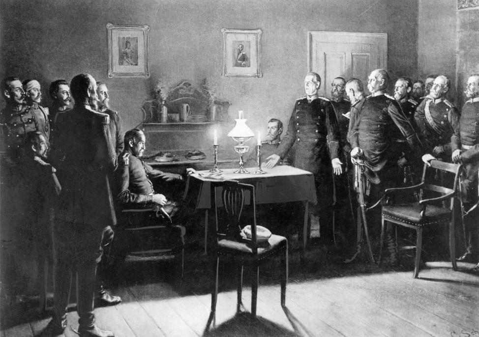 Frankreichs Kapitulation nach der Schlacht von Sedan, 1870