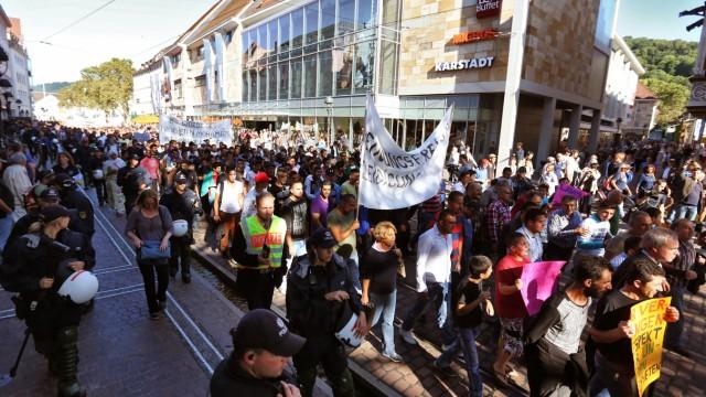 Demonstration gegen Islam-Video