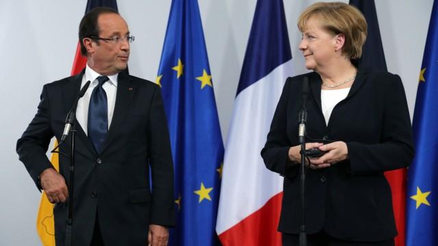 Merkel And Hollande Meet On De Gaulle Speech Anniversary