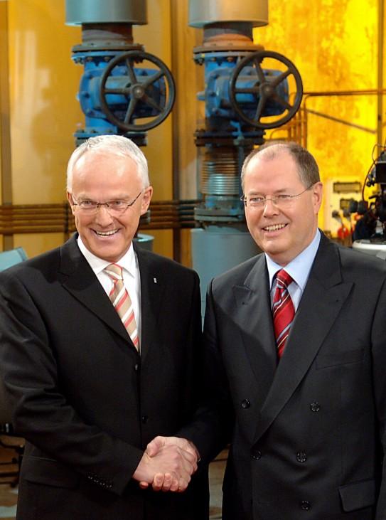 TV-Duell Steinbrück Rüttgers