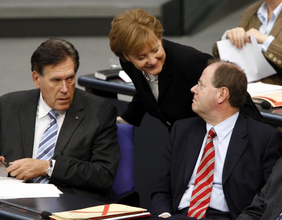 Bundestag - Merkel Glos Steinbrück