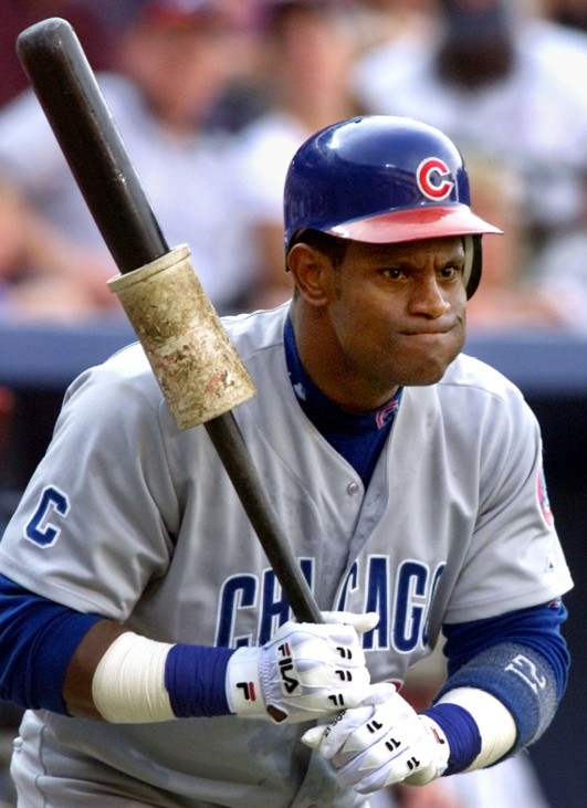 CUB SOSA WATCHES PITCHER IN ATLANTA AS TRADE RUMORS ABOUND