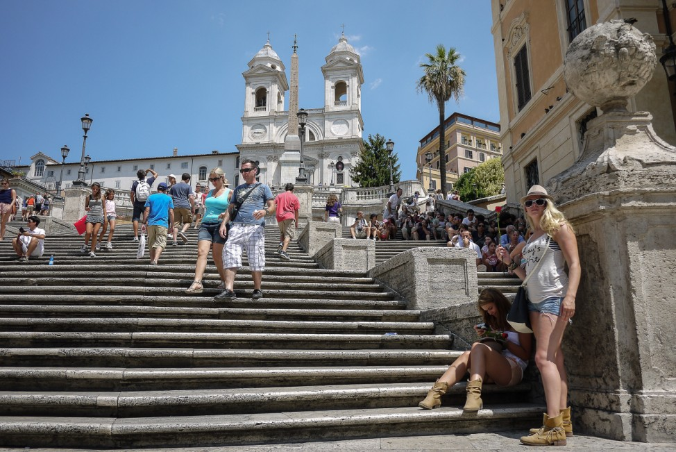 Italien Sehenswürdigkeiten Verbot Rom Spanische Treppe