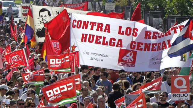 Protest against the Government's austerity measures