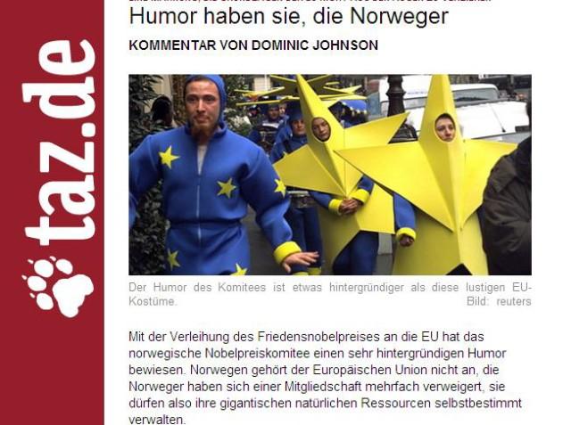 Screenshot taz.de