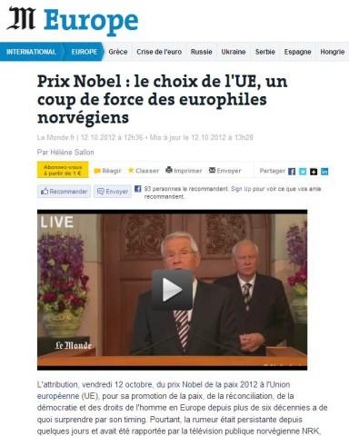 Screenshot Le Monde