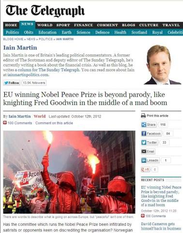 Screenshot The Telegraph