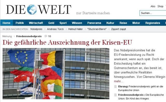 Screenshot Welt.de