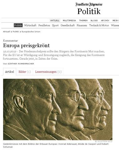 Screenshot Franfurter Allgemeine Zeitung