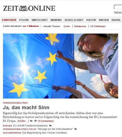 Screenshot Zeit Online