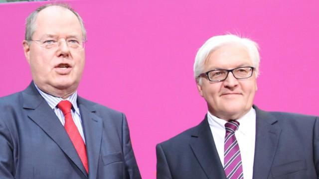 Peer Steinbrück und Frank-Walter Steinmeier