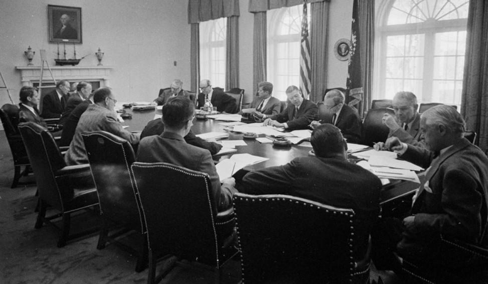 President John F. Kennedy Cuban Missile Crisis Cabinet Meeting