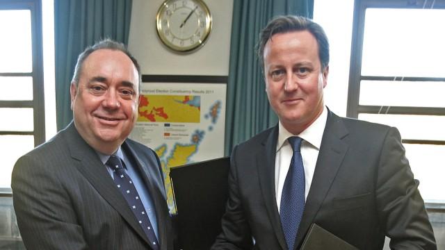 David Cameron, Alex Salmond,
