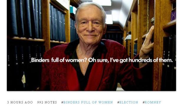 "Mitt Romney ""binders full of women"""
