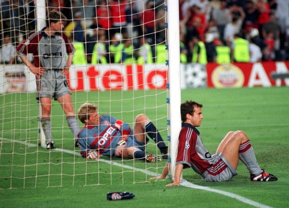 Finale der Champions League Manchester United gegen Bayern München, 1999