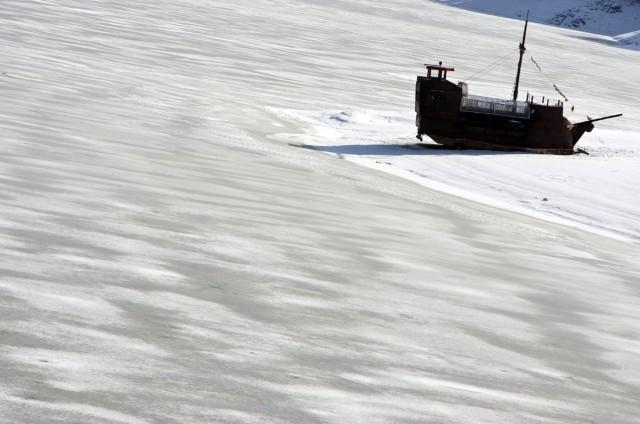 Piratenschiff im Eis