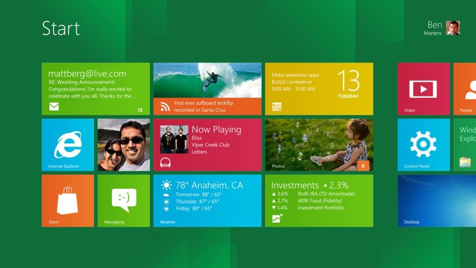 Markteinfuehrung von Windows 8