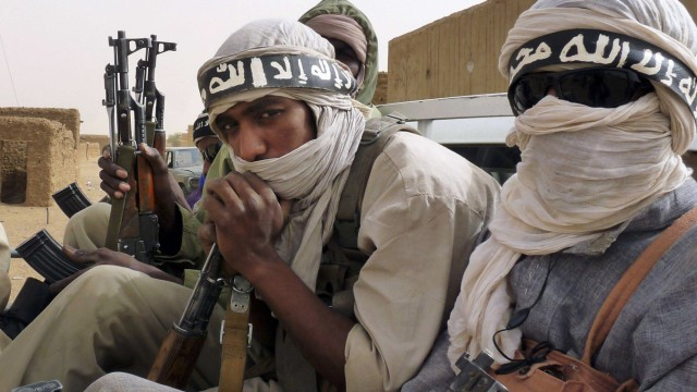 File photo of militiaman from the Ansar Dine Islamic group in northeastern Mali