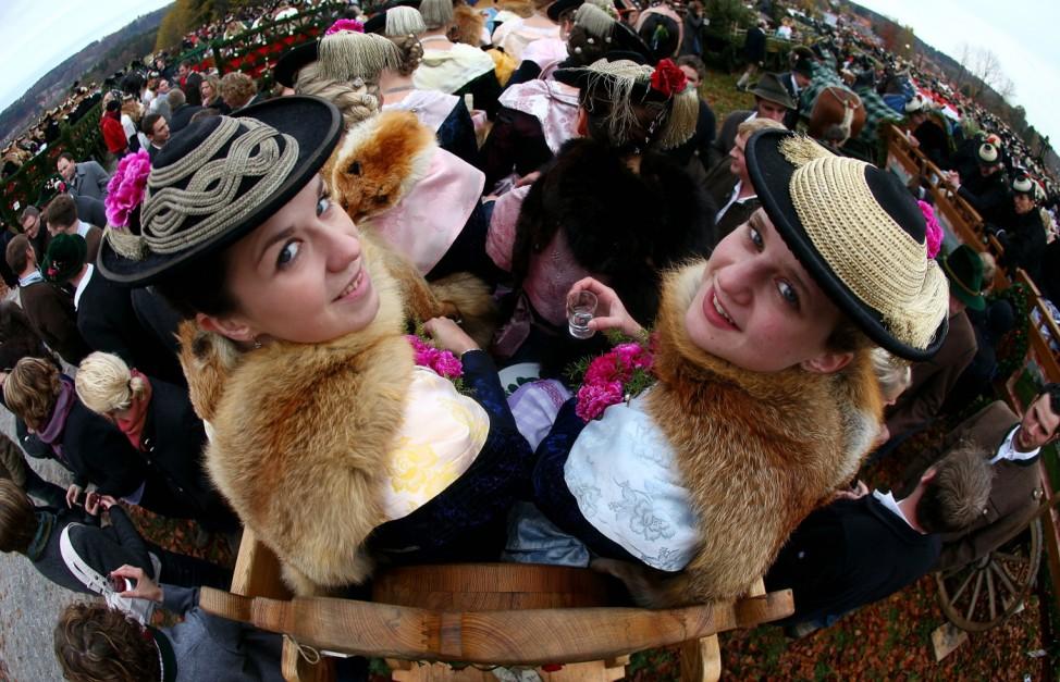 Traditional Bavarian Leonhardi Parade